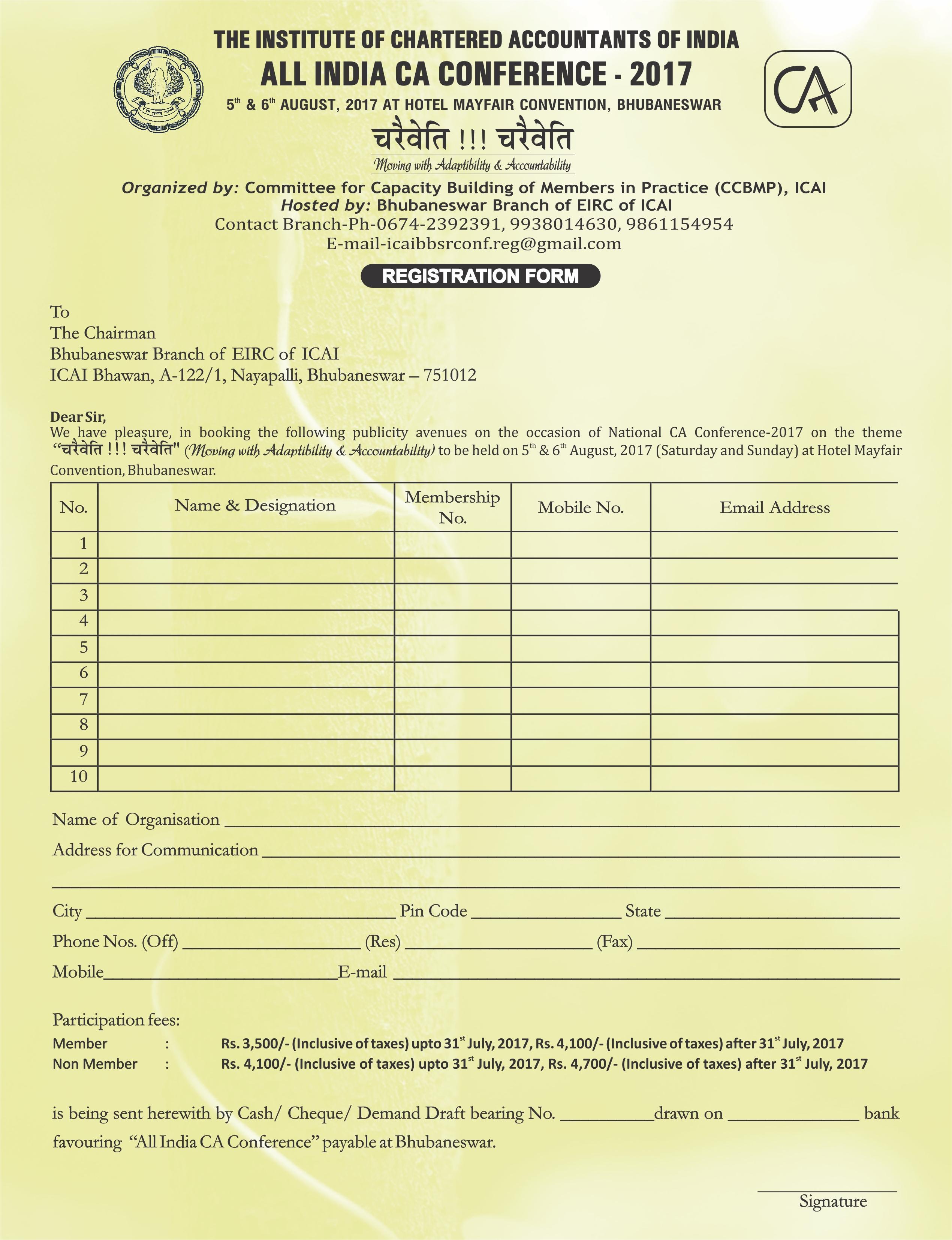 Bhubaneswar ICAI – Events